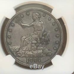 1883 Dollar Commerce Ngc Pr60 Belle Belle Tonique Gris Bleuté Orginal Patina