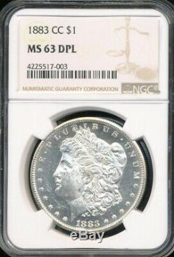 1883-cc Morgan Dollar Ngc Ms 63 Dpl Preuve Profonde Comme Un Miroir