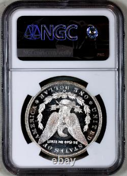 1883-cc Ms63 Dpl Ngc Cac Proof-like Morgan Silver Dollar Premium Qualité