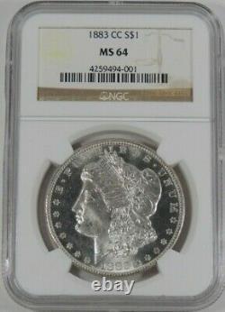 1883-cc Ngc Ms-64 Silver Morgan Dollar Semi Proof-like Blast White No Tonning
