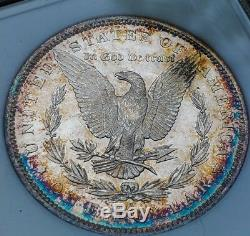 1884 O Ms63 Pl / Preuve Comme Morgan Silver Dollar Arc-en-tonique 007