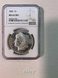 1885 P Morgan Silver Dollar Ngc Ms 63 Dpl Deep Mirror Proof Like Pl Dmpl Coin