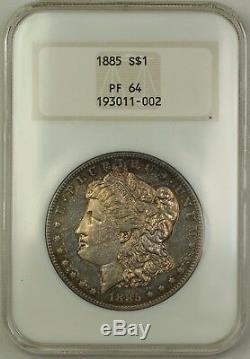 1885 Preuve Morgan Silver Dollar $ 1 Vieille Ngc Titulaire Pf-64 Noir Et Blanc (meilleur Coin)