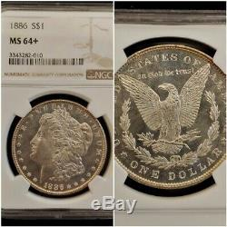1886 Ngc Ms64 + Plus Semi Pl Flashy Morgan Preuve Comme Star Digne