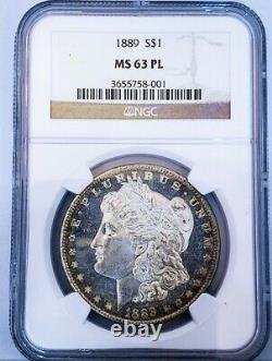 1889 Ms63 Preuve Comme Pl Morgan Dollar / Looks Dmpl / Beau Miroirs