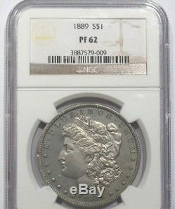 1889 Ngc Pf 62 Preuve Morgan Silver Dollar 811 Mintage