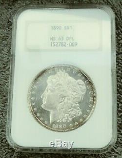 1890 Morgan Silver Dollar Ngc Ms63 Dpl Preuve Profonde Miroir Comme Dmpl