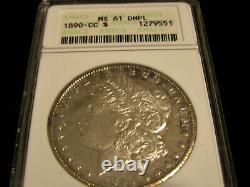 1890-cc Anacs Ms 61 Dmpl Deep Mirror Proof Like Carson City Morgan Dollar