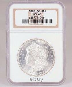 1890-cc Morgan Silver Dollar Ngc Ms 63 Preuve Comme