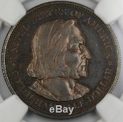 1892 Proof Colombienne Commémorative Demi-dollar Ngc Pf-64 Noir Et Blanc