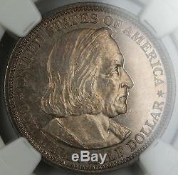 1893 Columbia Moitié Commémorative Dollar Ngc Unc Bu (proof)