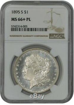 1895-s Morgan Dollar $ Ms66 + Pl Preuve Comme Ngc 942093-1