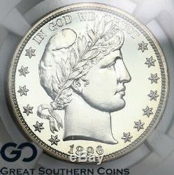 1896 Pr 67 Barber Half Dollar Ngc Proof 67 Souffle Blanc Pf, Qualité Supérieure