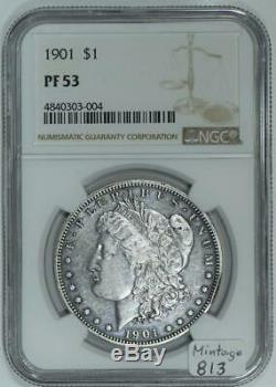 1901 Dollar Preuve Morgan Ngc Pf-53 813 Mintage