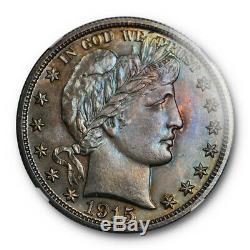 1915 50c Barber Half Dollar Ngc Pf 65 Preuve Date De Clé Patinées Dur