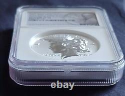 1921-2021 Ngc Rp70 2oz Argent 100e Ann (uhr) Dollar Pour La Paix Uniquement #1921 Fdoi/rare