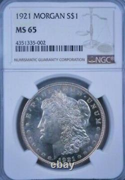1921 Ms65 Morgan Silver Dollar Très Preuve Comme! Pl Regarde! Vrai Pq