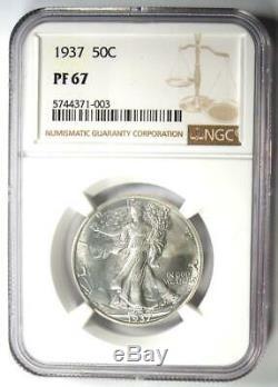 1937 Proof Marche Liberté Demi-dollar 50c Coin Ngc Pr67 (pf67). $ 1,830 Valeur