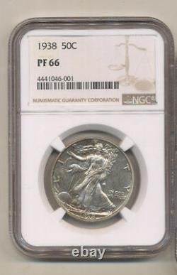 1938 Ngc Pf66 Proof Silver Walking Liberty Half Dollar Original Pr66