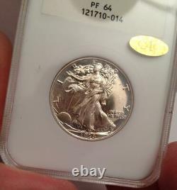 1938 Walking Liberty Proof Demi-dollar Pf 64 Rare Ngc Gen 2.1 Slab Gold Cac