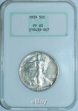 1939 Ngc Pr65 Preuve Marche Liberté Demi-dollar