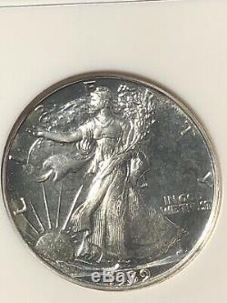 1939 Ngc Pr67 Argent Walking Liberté Half Dollar
