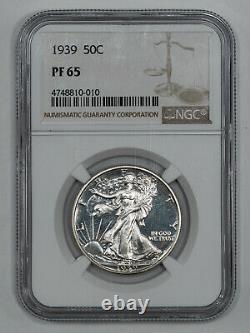 1939 Proof Walking Liberty Demi-dollar 50c Ngc Certifié Pf 65 (010)