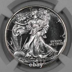 1942 Proof Walking Liberty Demi Dollar 50c Ngc Certifié Pf 67 Argent (005)