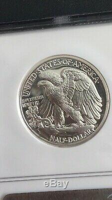 1942 Walking Liberté Half Dollar Preuve Pf66 Ngc Avec Cac