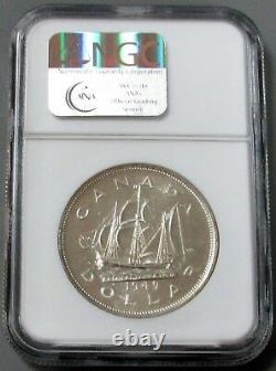 1949 Argent Canada 1 $ Bateau Tall Ngc Modèle De Preuve 63