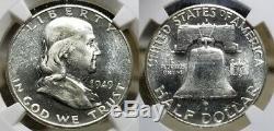 1949 S Franklin Half Dollar 50c Ngc Ms 64 Pl Cac Rare Preuve Comme