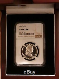 1950 Franklin Half Dollar Proof Annotées Par Des Ngc Dans Pf66 Cameo Un Vrai Petit Bijou