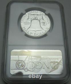 1950 Franklin Pf65 Argent Half Dollar Ngc Preuve 65 Preuve Première Année