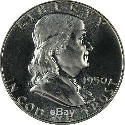 1950 Ngc Pf67 Pr67 Franklin Half Dollar Souffle White & Flashy Tout Scarce