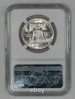 1950 Preuve Franklin Demi-dollar 50c Ngc Certifié Pf 68 (002)