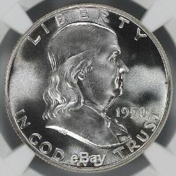1950 Preuve Franklin Half Dollar 50c Ngc Certifié Pfpr 67 (002)