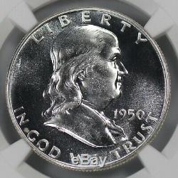 1950 Preuve Franklin Half Dollar 50c Ngc Certifié Pfpr 67 (013)