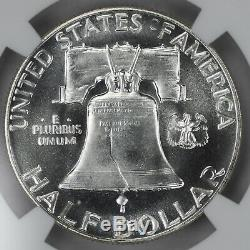 1951 Preuve Franklin Half Dollar 50c Ngc Certifié Pf 65 Uncirculated (002)