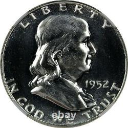 1952 Preuve Franklin Half Dollar Ngc Pf67 Pr67 Bright White Superbe Gem