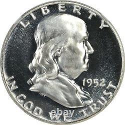 1952 Proof Franklin Half Dollar Ngc Pf67 Pr67 Cameo Very Scarce Blast White
