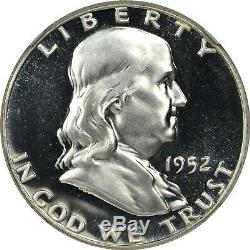 1952 Recoupé Cheveux Vp-001 Franklin Half Dollar Ngc Pf67 Pr67 Étoile Rare