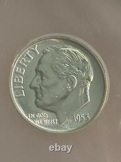1953 Kit De Preuve Argent Franklin Demi-dollar Ngc Grade Pf67 Cameo 5 Jeu De Pièces