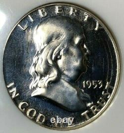 1953 Ngc Pf66 Cameo Silver Proof Franklin Half Dollar Rare Hi-grade Cameo
