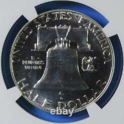 1953 Preuve Franklin Argent Demi-dollar Ngc Nuanced Pf67 Cac Gem Proof