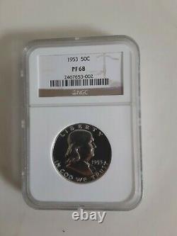 1953 Preuve Franklin Half Dollar 50c Ngc Certifié Pf 68 (002)