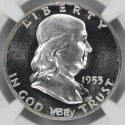 1953 Preuve Franklin Half Dollar 50c Ngc Certifié Pfpr 66 Cameo (001)