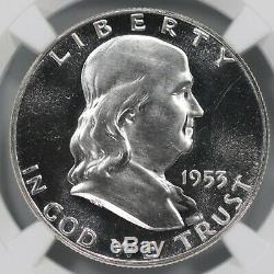 1953 Preuve Franklin Half Dollar 50c Ngc Certifié Pfpr 67 Cameo (001)