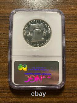 1953-p Franklin Argent Half Dollar 50c Ngc Preuve Pr Pf 67