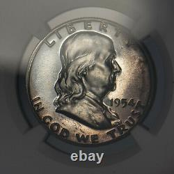 1954 50c Franklin Half Dollar Proof Ngc Pf 67 Almost Cameo Sku-x1090