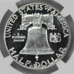 1954 Franklin Half Dollar 50c Ngc Certifié Pf 67 Preuve Unc Cameo (005)